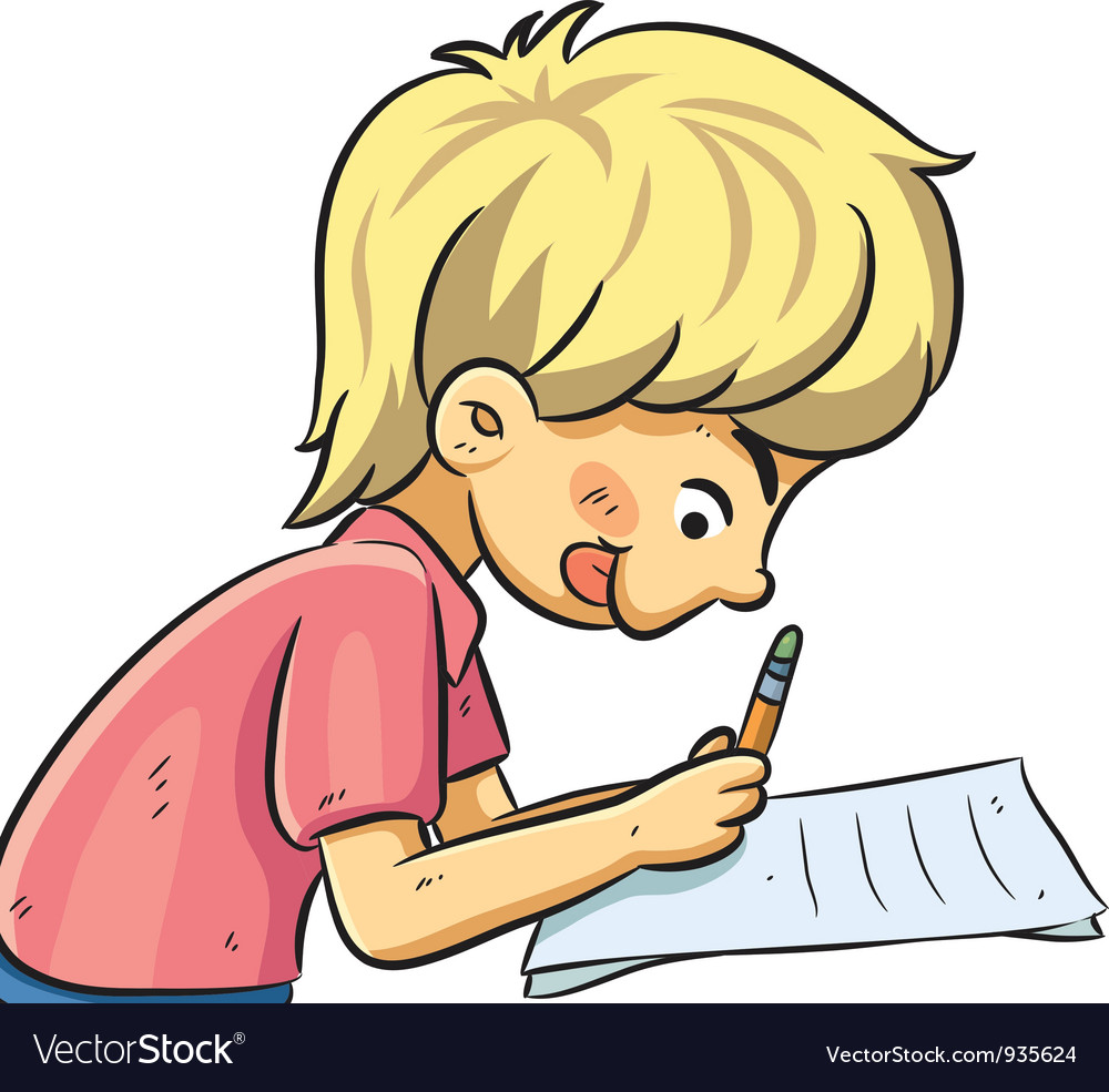 Boy studying vector | Price: 3 Credit (USD $3)