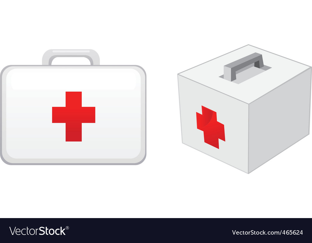 First aid boxes vector | Price: 1 Credit (USD $1)