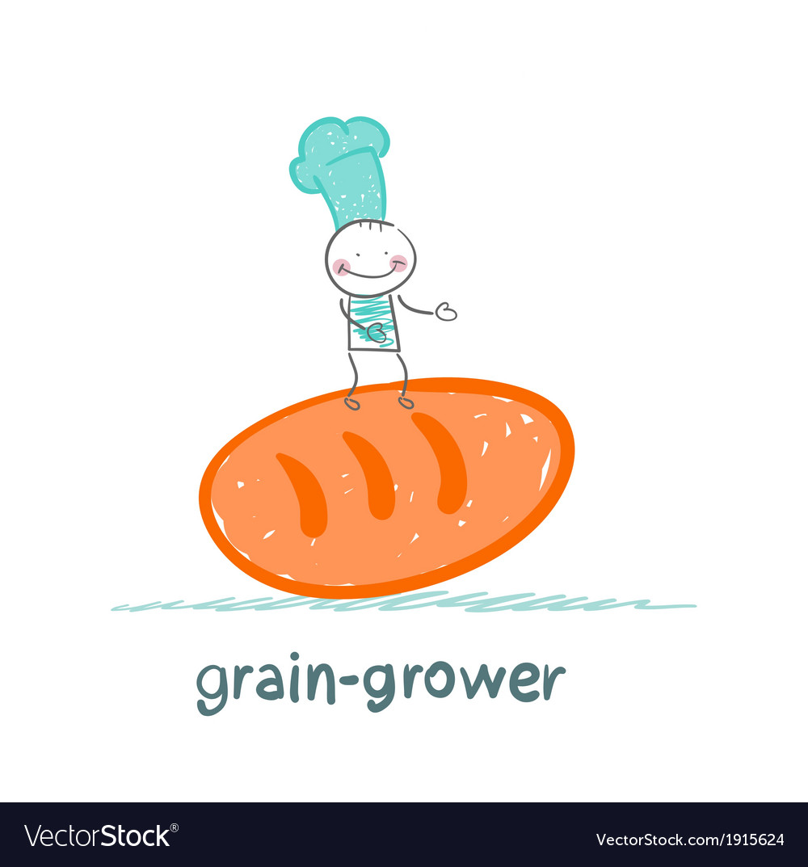 Grain grower keeps bread vector | Price: 1 Credit (USD $1)