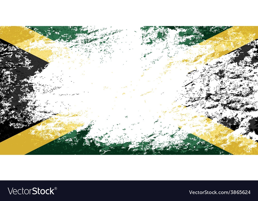 Jamaican flag grunge background vector | Price: 1 Credit (USD $1)