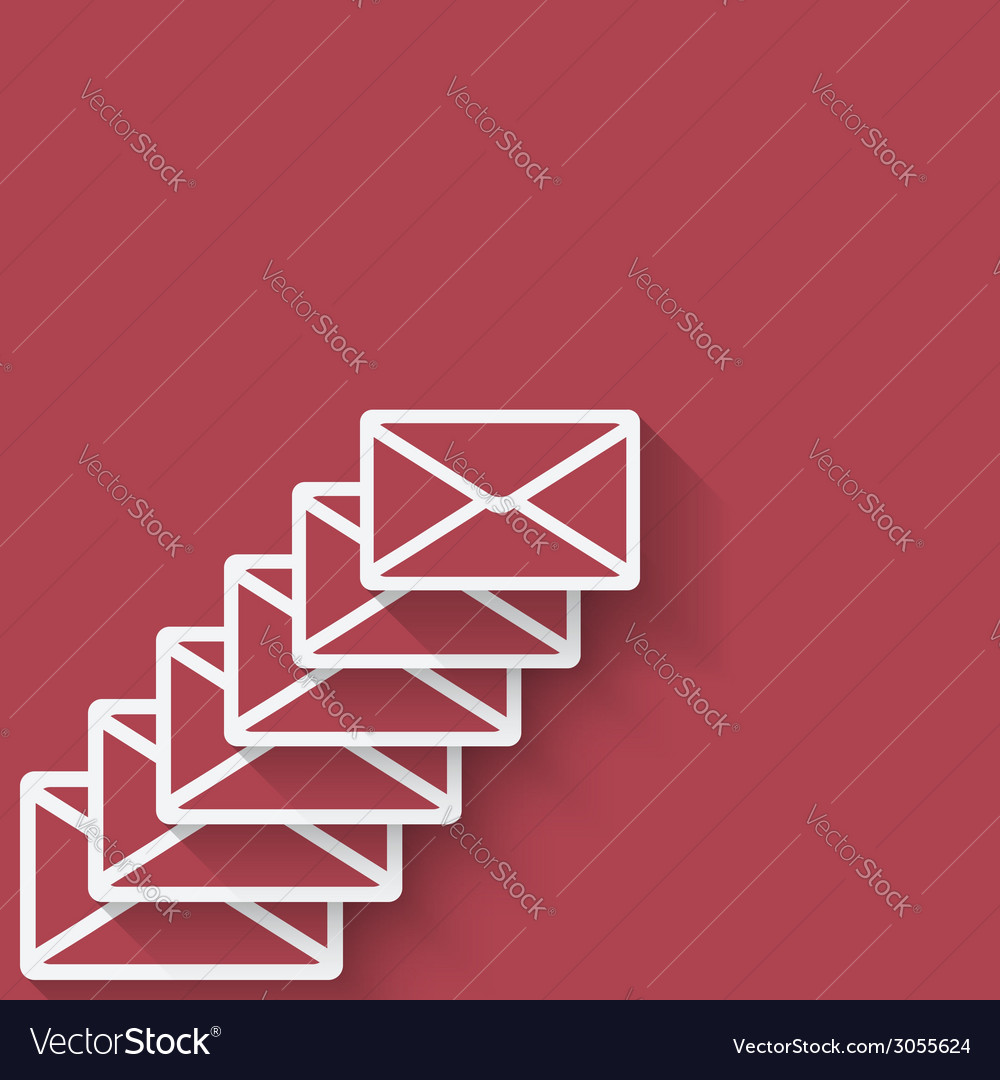 Letter mail symbol vector | Price: 1 Credit (USD $1)