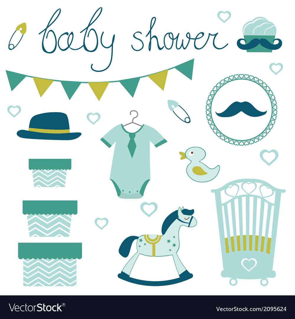 Little man baby shower vector | Price: 1 Credit (USD $1)