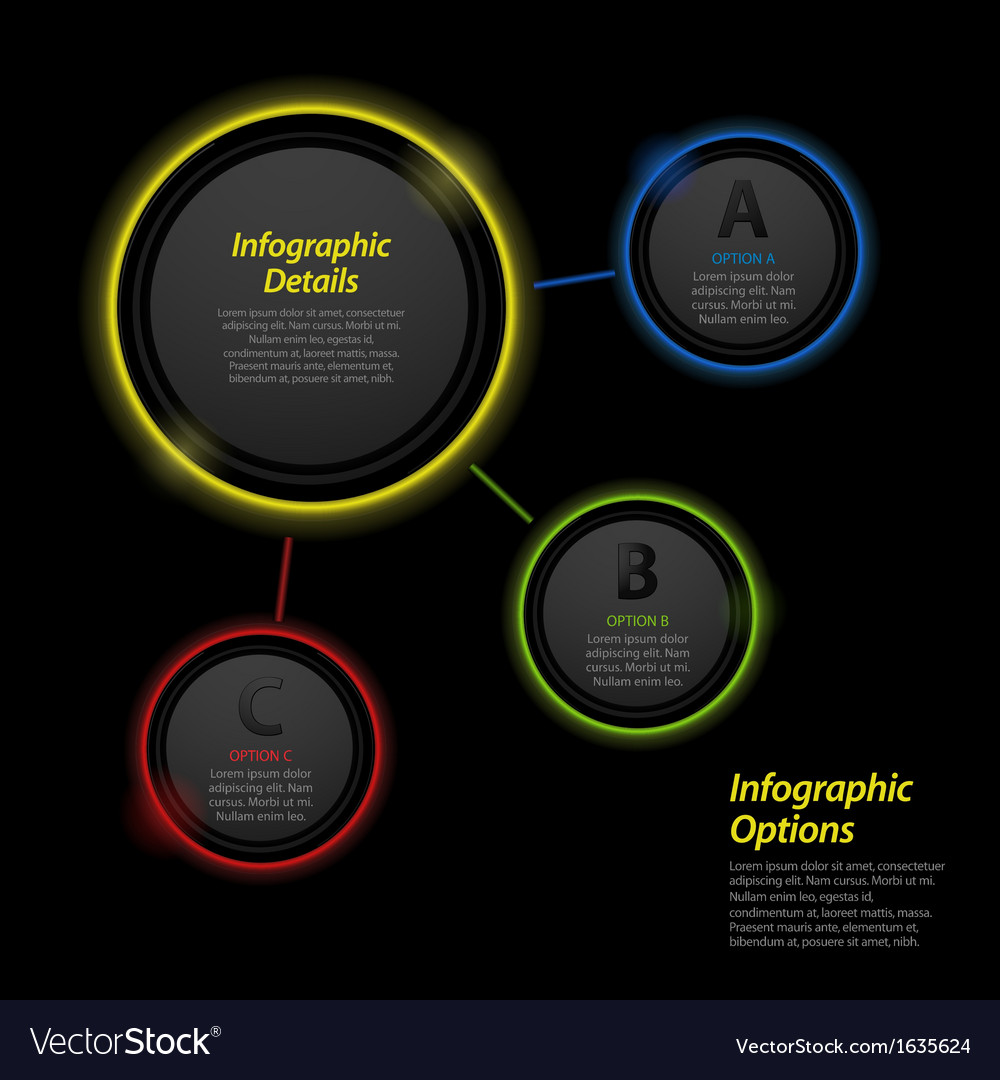 Neon infographic circle background2 vector | Price: 1 Credit (USD $1)