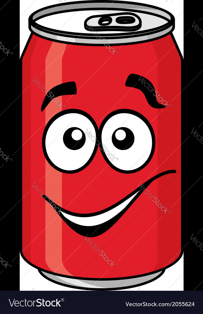 Red cartoon soda or soft drink can vector | Price: 1 Credit (USD $1)