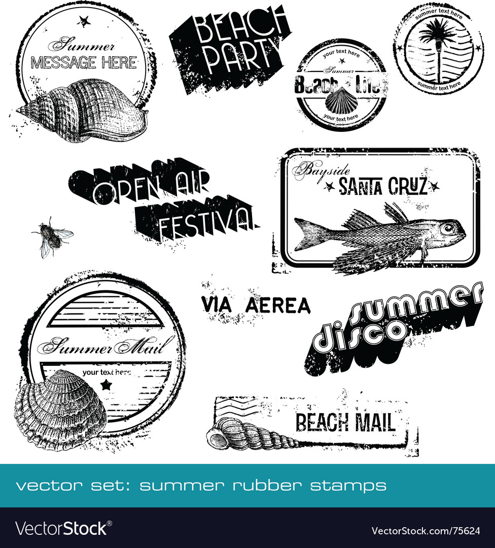 Summer stamps vector | Price: 1 Credit (USD $1)
