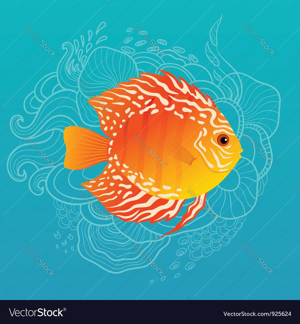Sunny fish vector | Price: 3 Credit (USD $3)