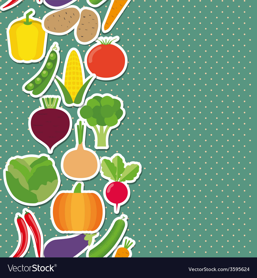 Vegetable seamless border pattern the image of vector | Price: 1 Credit (USD $1)