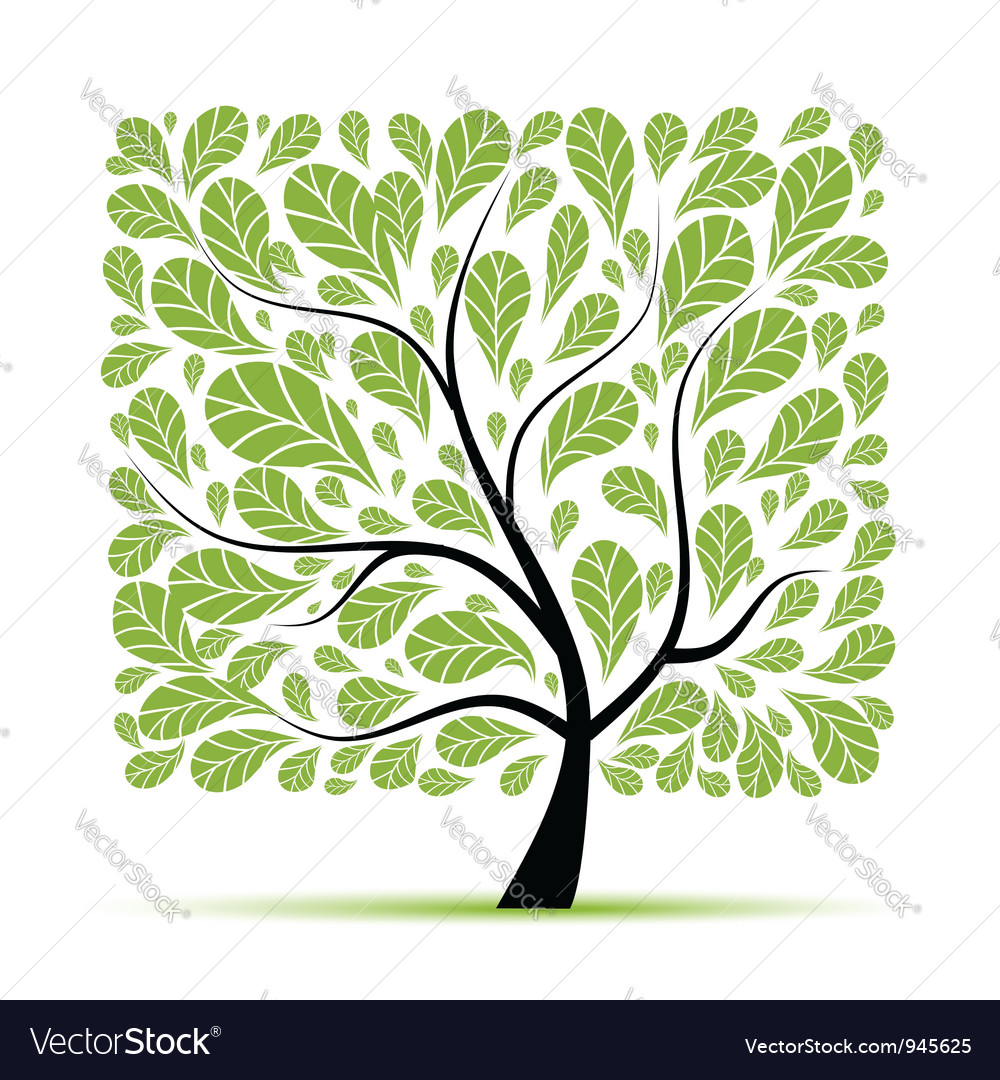 Art tree beautiful for your design vector | Price: 1 Credit (USD $1)