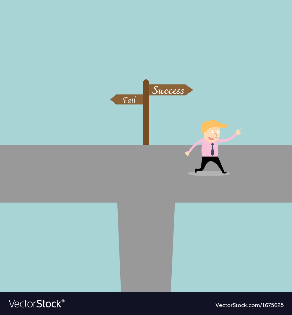 Businessman go to success vector | Price: 1 Credit (USD $1)