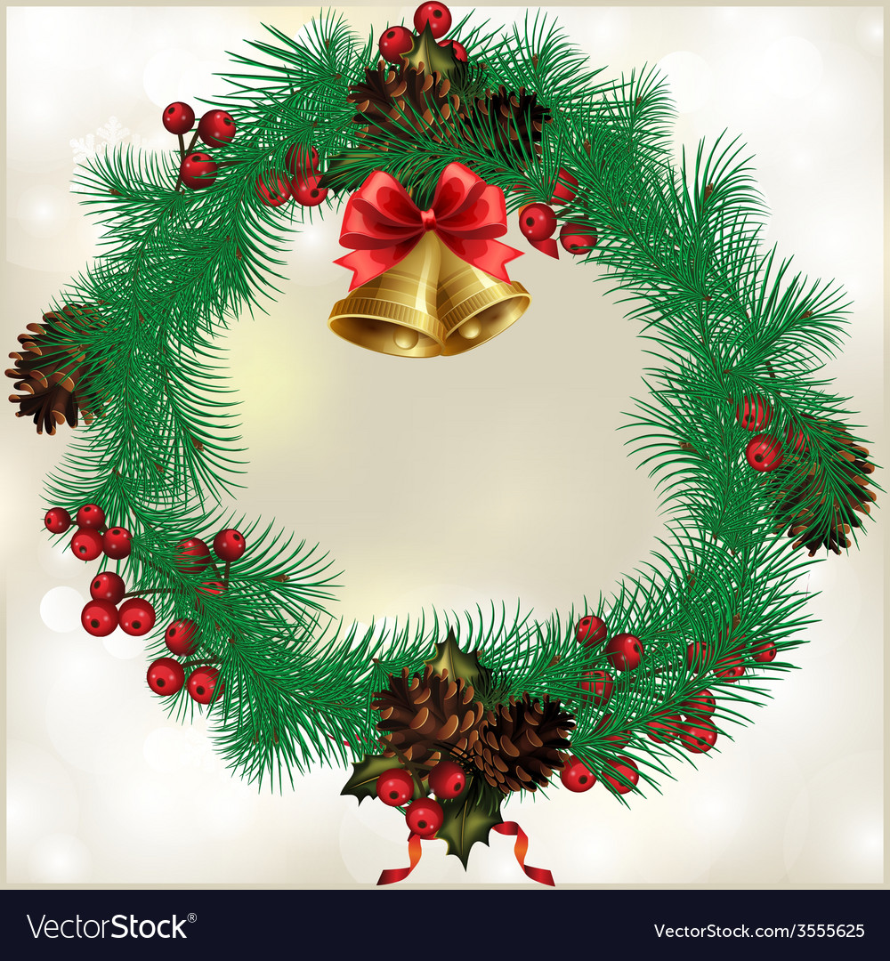 Christmas wreath vector | Price: 1 Credit (USD $1)