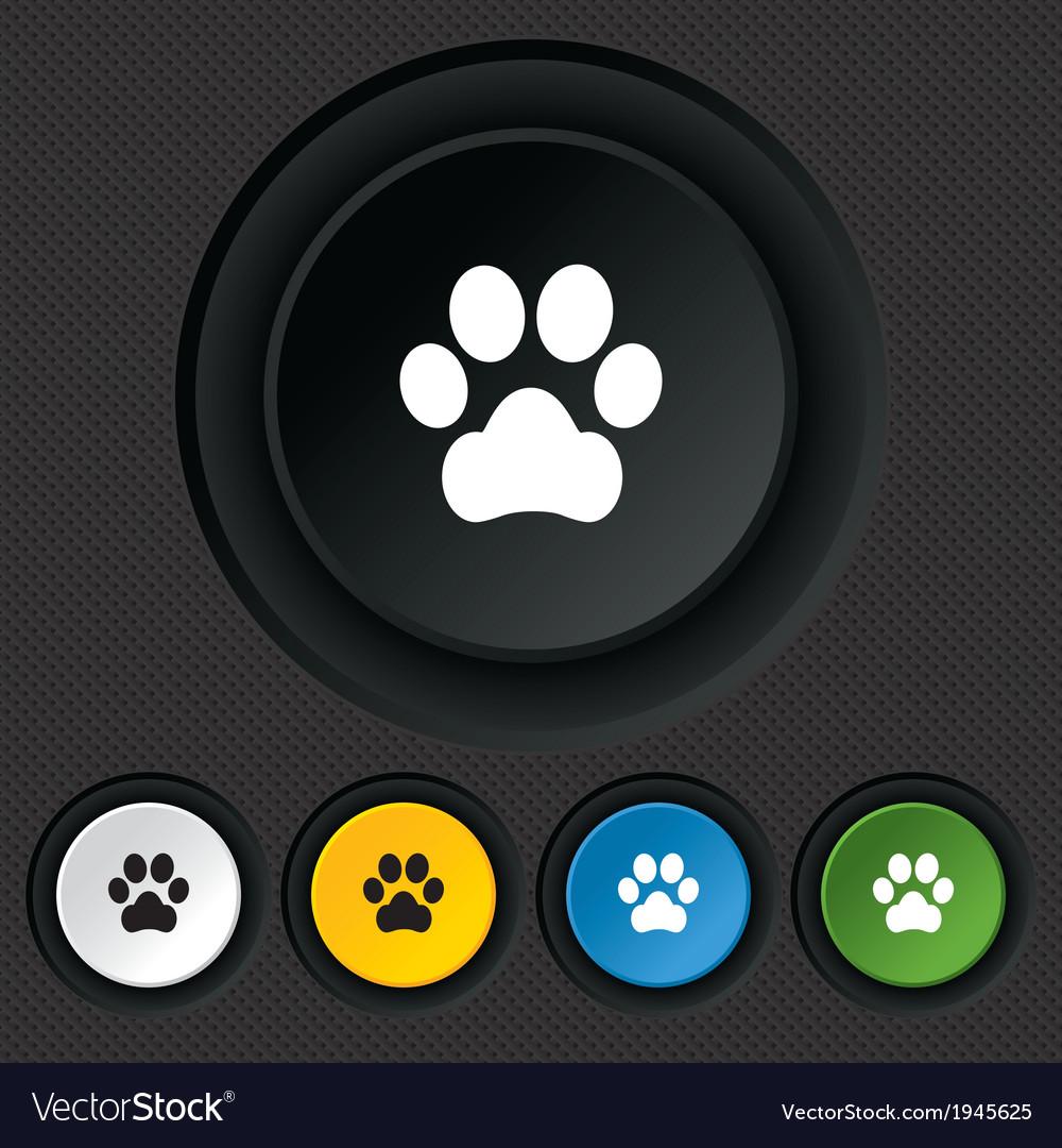 Dog paw sign icon pets symbol vector | Price: 1 Credit (USD $1)