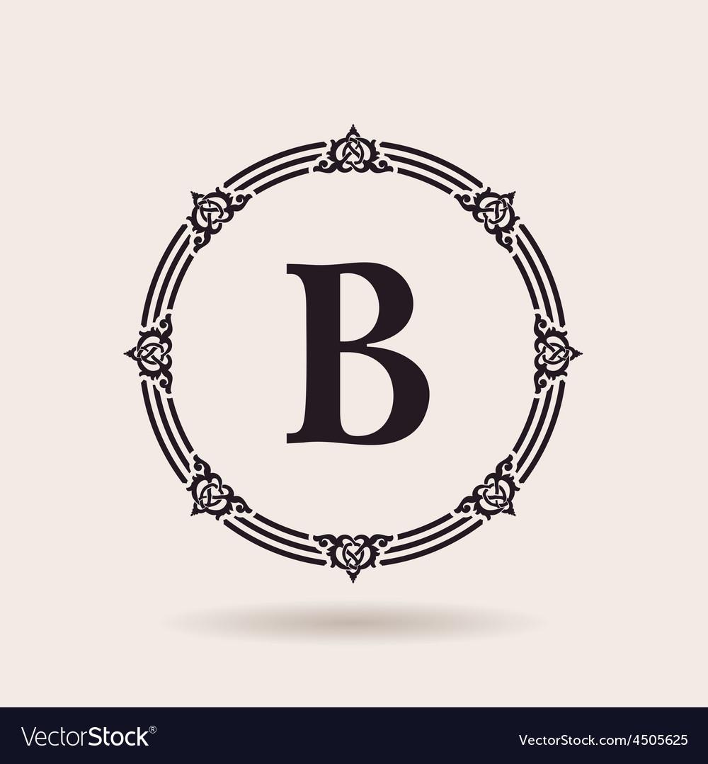 Frame calligraphic design emblem vintage labels vector | Price: 1 Credit (USD $1)