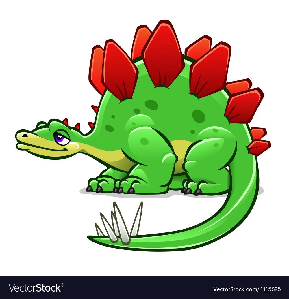 Green cartoon dinosaur vector | Price: 3 Credit (USD $3)