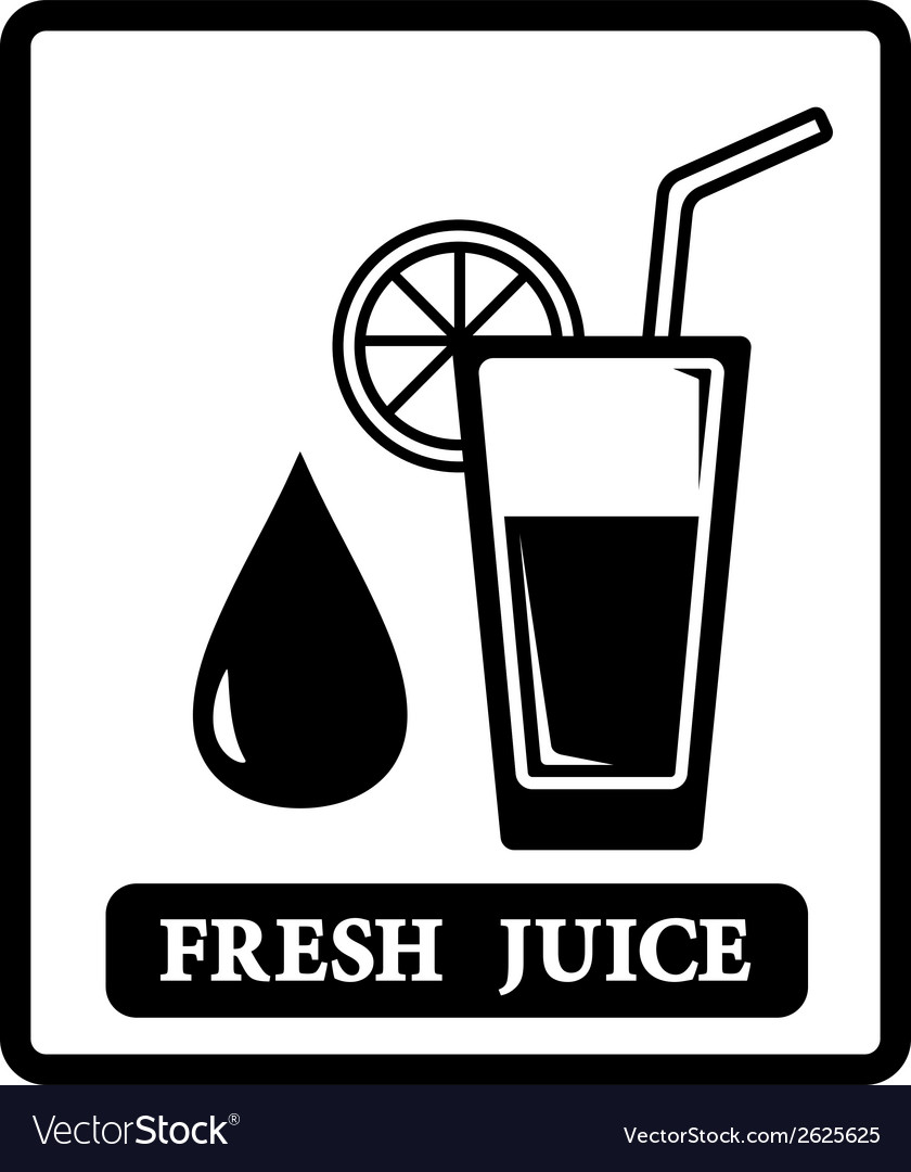 Juice icon with drop and glass vector | Price: 1 Credit (USD $1)