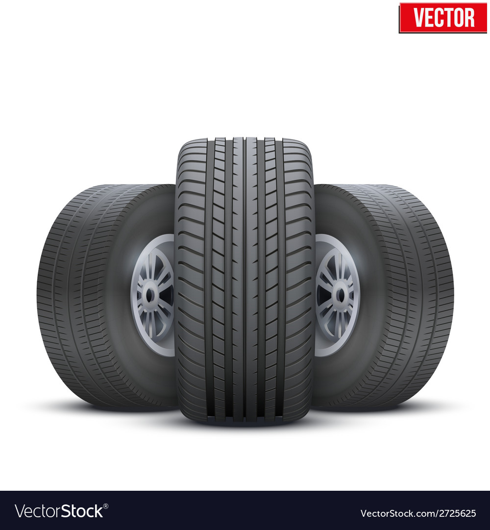 Realistic wheels and tire concept vector   Price: 1 Credit (USD $1)