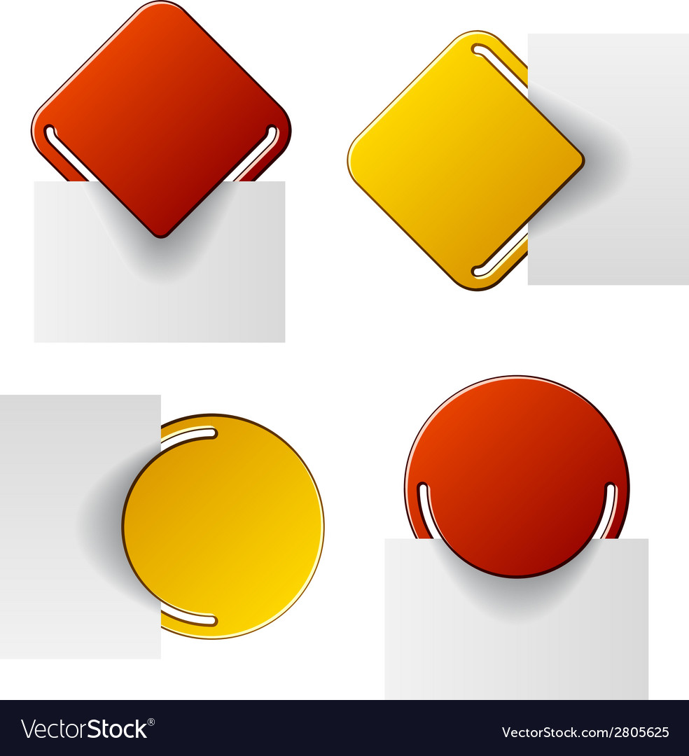Red and yellow attached labels vector | Price: 1 Credit (USD $1)