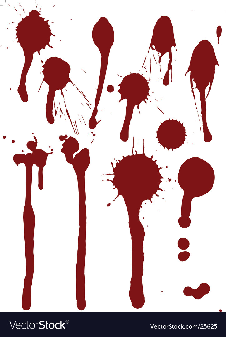 Set of blood drops vector | Price: 1 Credit (USD $1)
