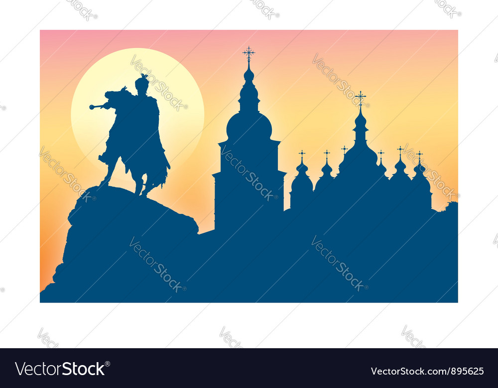 Silhouette of st sophia cathedral vector | Price: 1 Credit (USD $1)