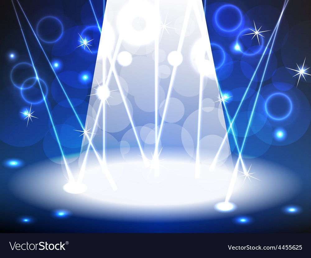 Stage with blue tone lights vector | Price: 1 Credit (USD $1)