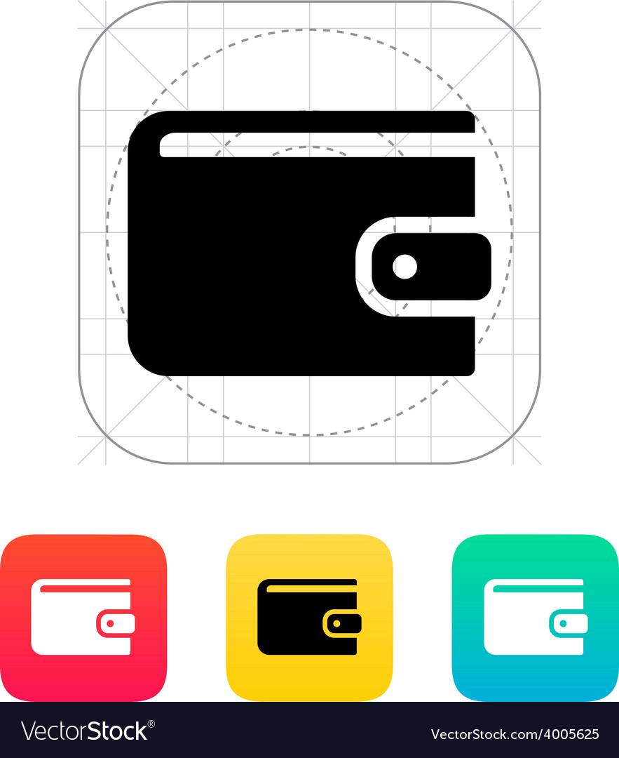 Wallet icon vector | Price: 1 Credit (USD $1)