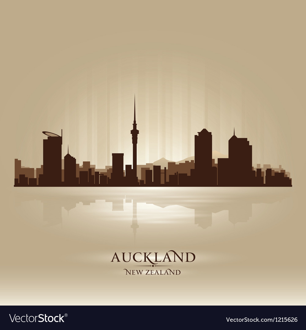Auckland new zealand skyline city silhouette vector | Price: 1 Credit (USD $1)