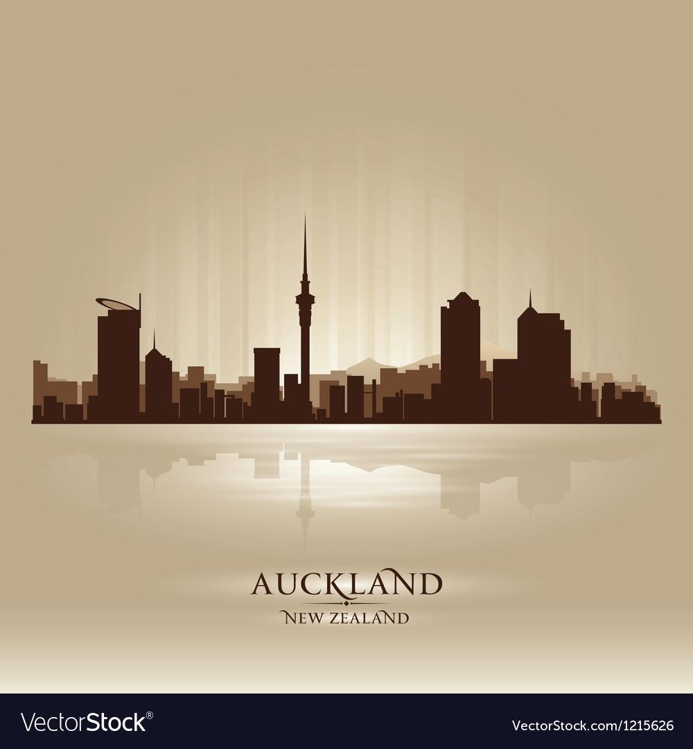 Auckland new zealand skyline city silhouette vector | Price: 1 Credit (USD $1)