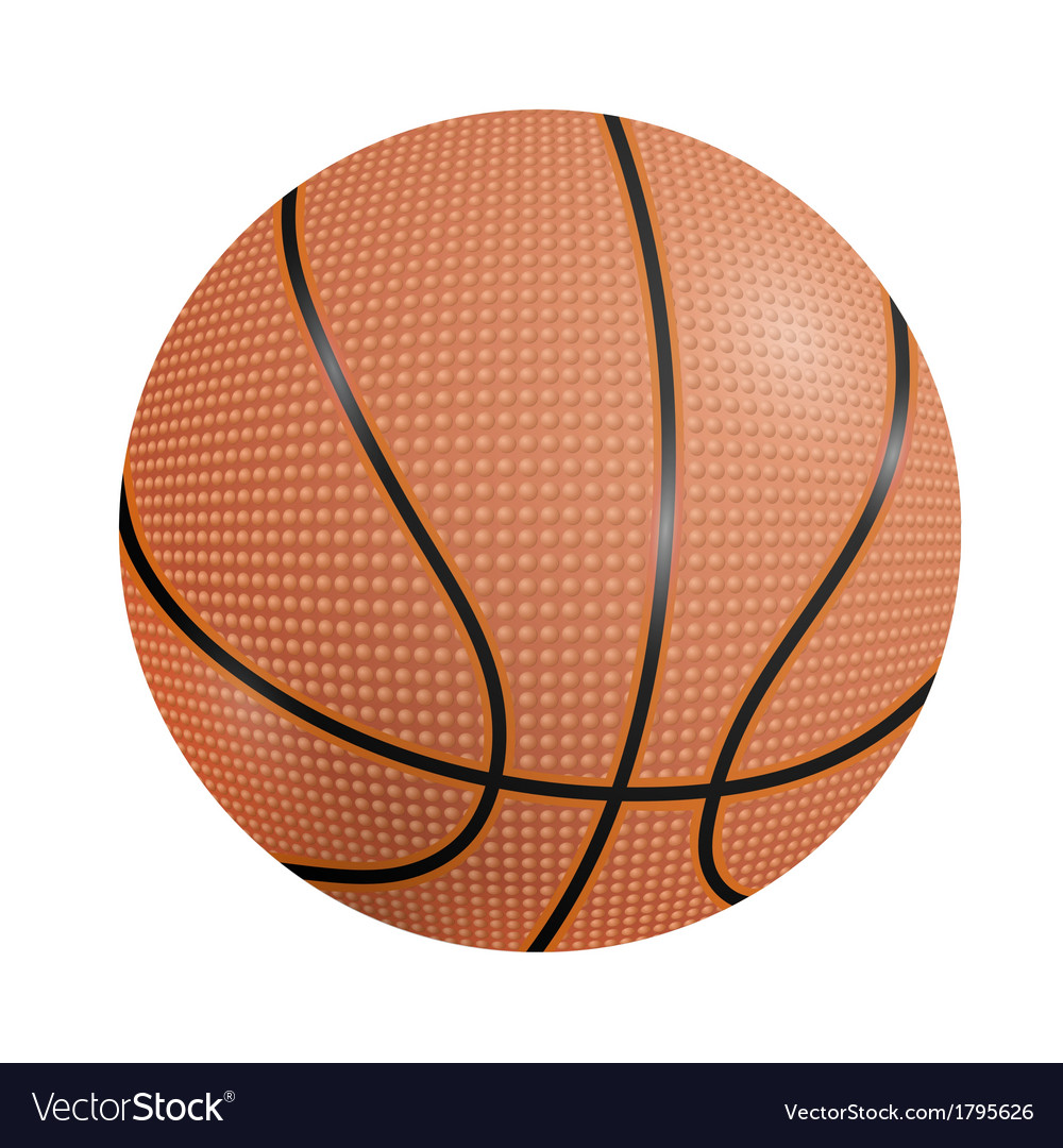 Basketball ball on a white background vector | Price: 1 Credit (USD $1)