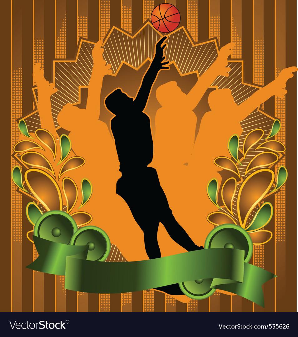 Basketball vintage design vector | Price: 1 Credit (USD $1)