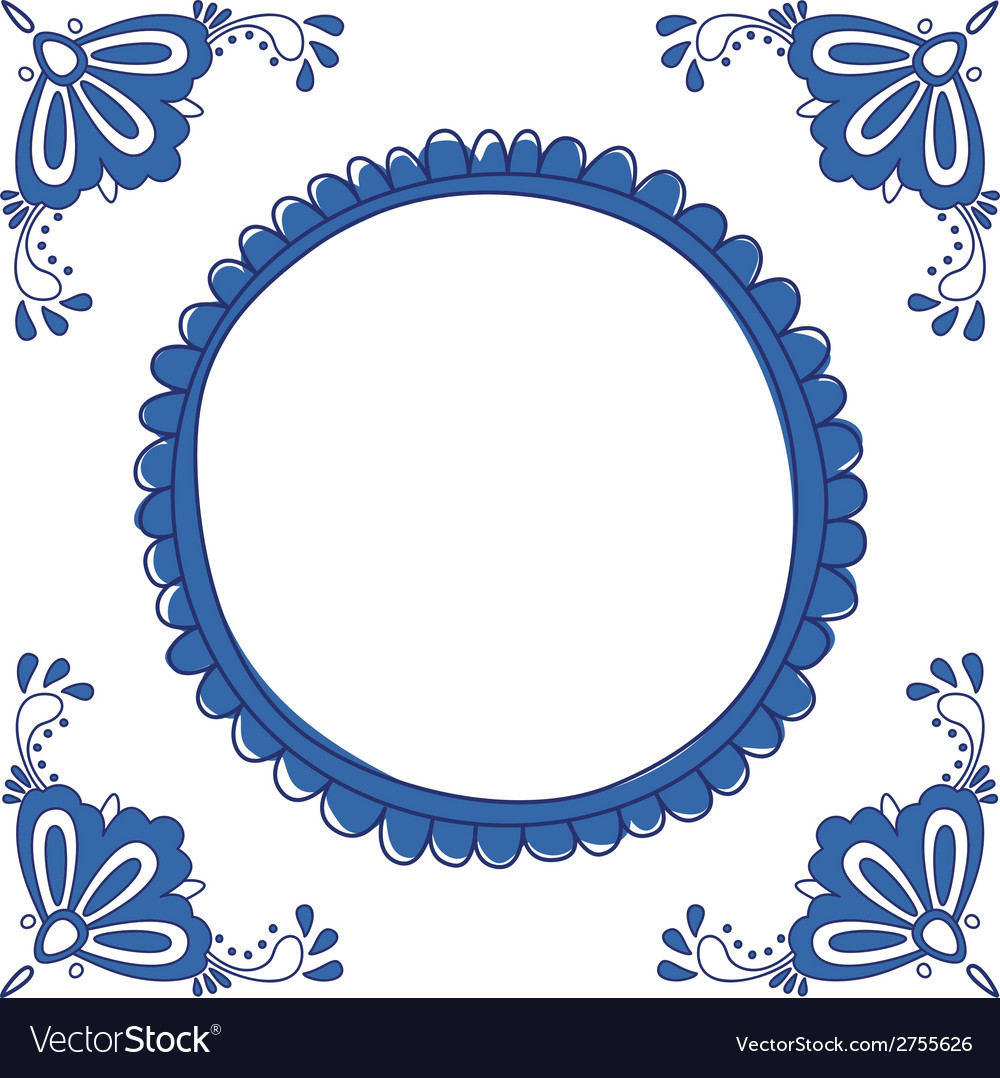 Delft blue empty vector | Price: 1 Credit (USD $1)