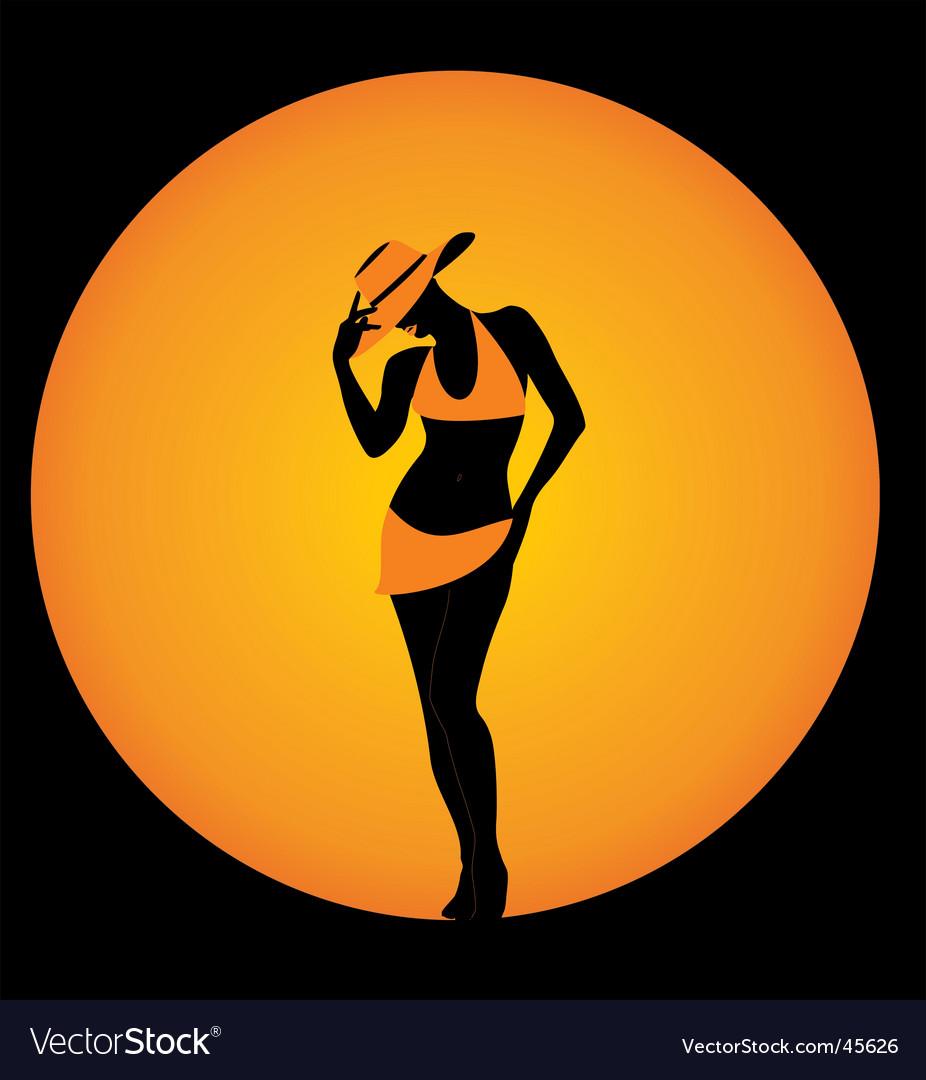 Girl in elegant hat vector   Price: 1 Credit (USD $1)