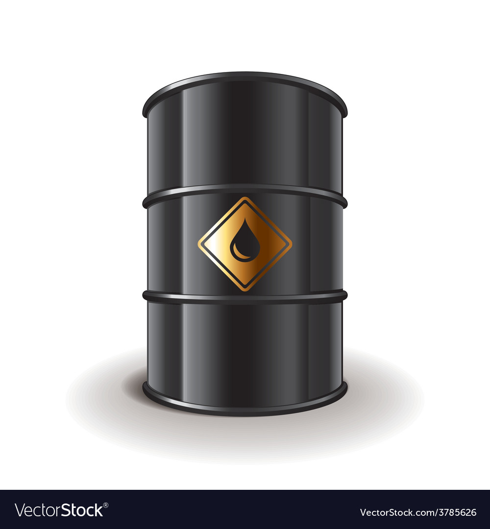 Oil barrel isolated vector | Price: 3 Credit (USD $3)