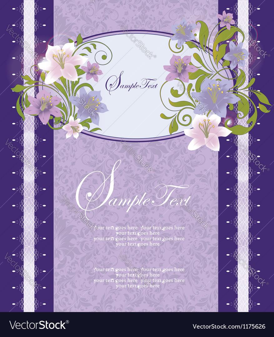 Purple floral frame vector | Price: 1 Credit (USD $1)