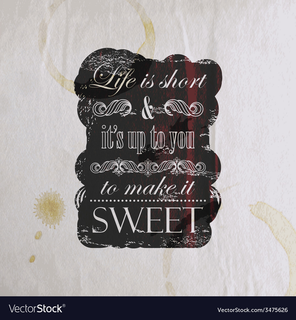Quote typographical label on old vintage wrinkled vector | Price: 1 Credit (USD $1)