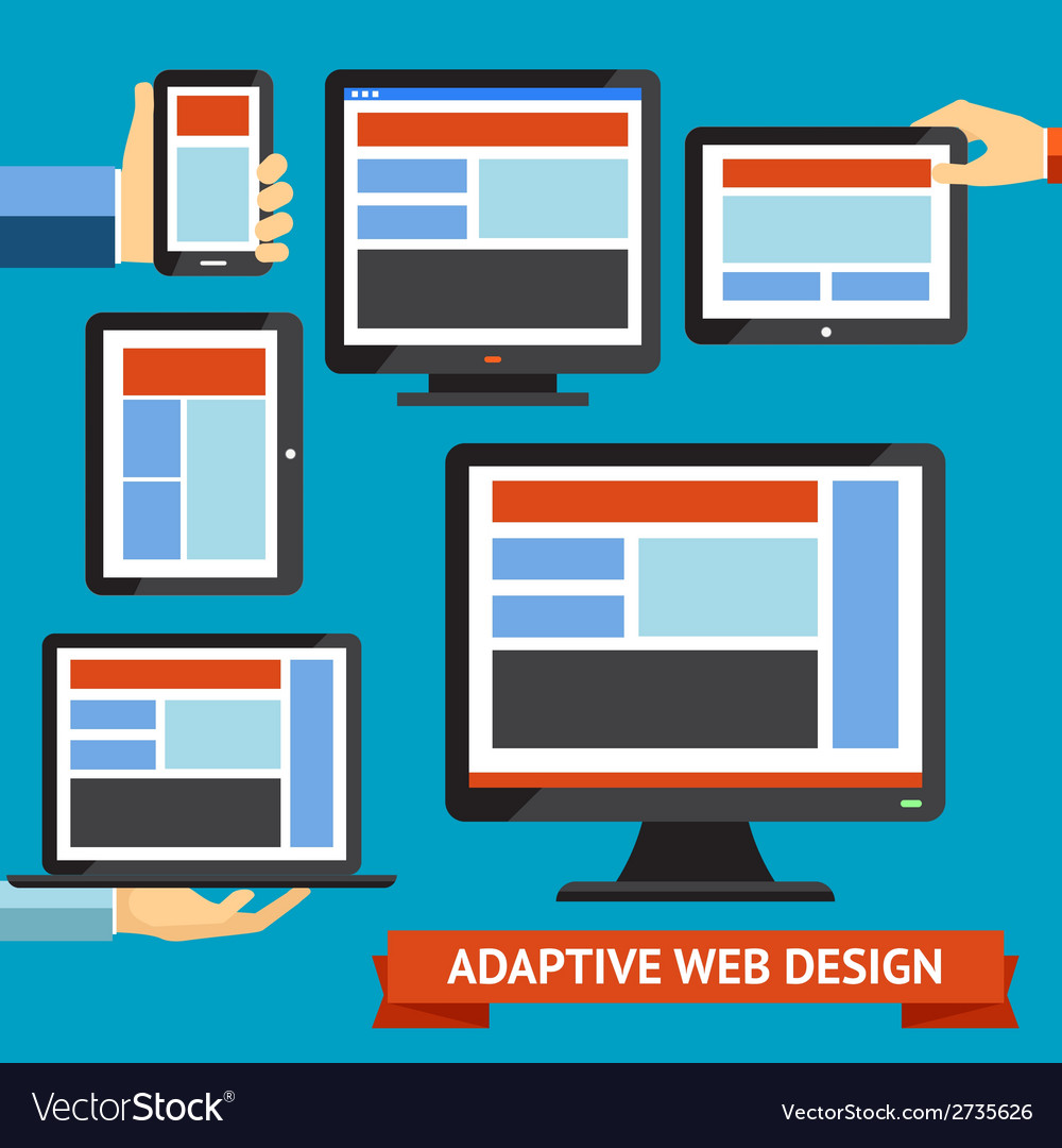 Responsive and adaptive design vector | Price: 1 Credit (USD $1)