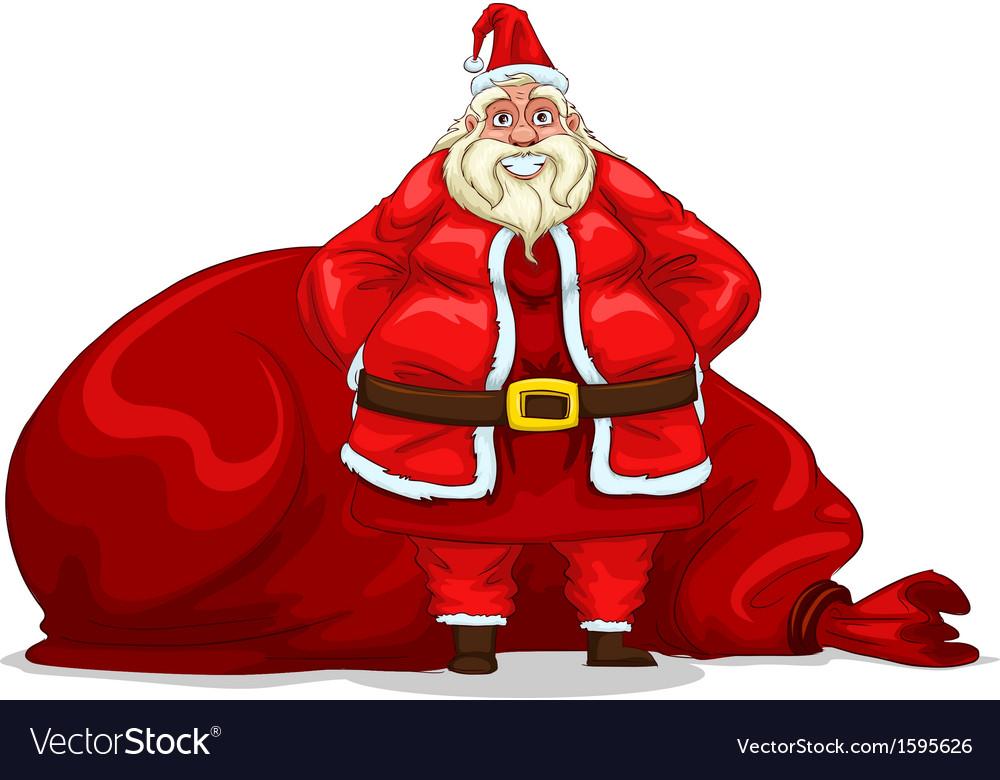 Santa claus with bag vector | Price: 1 Credit (USD $1)