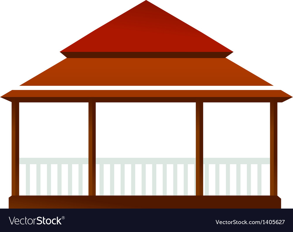 A view of house vector | Price: 1 Credit (USD $1)