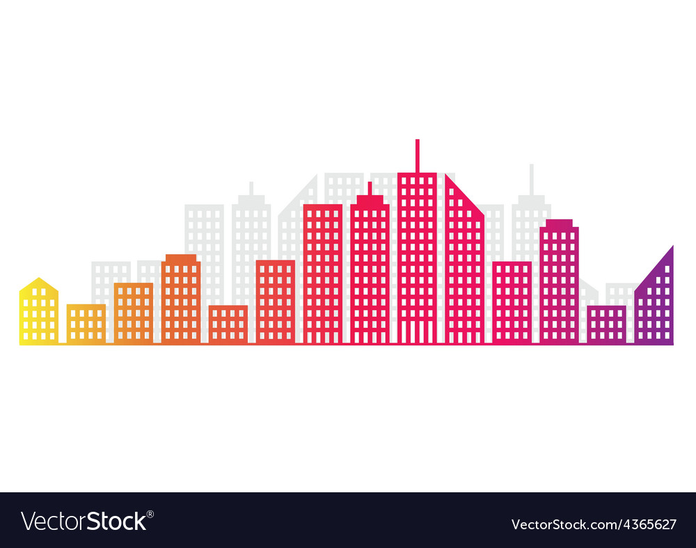 Abstract city skyline vector | Price: 1 Credit (USD $1)