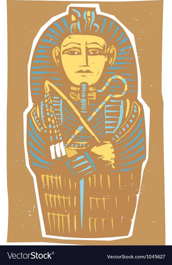 Egyptian sarcophagus color vector | Price: 1 Credit (USD $1)