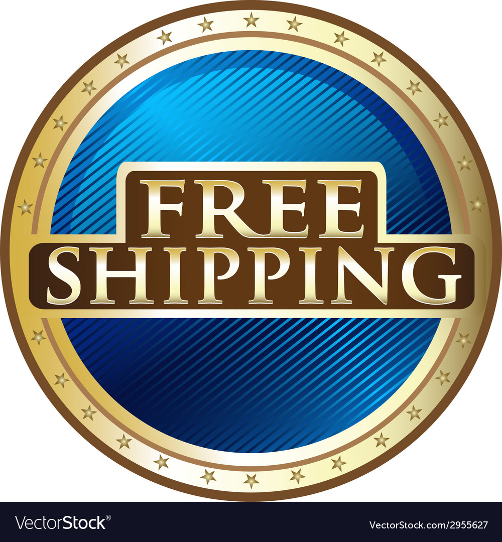 Free shipping emblem vector | Price: 1 Credit (USD $1)