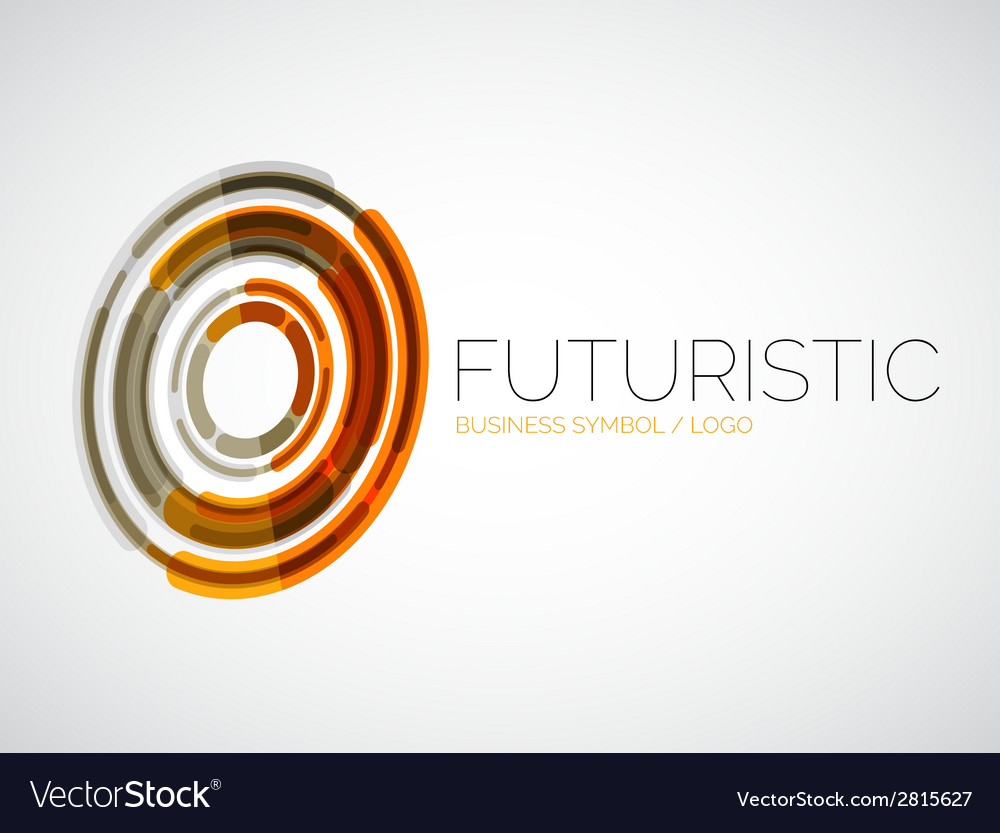 Futuristic circle business logo design vector | Price: 1 Credit (USD $1)