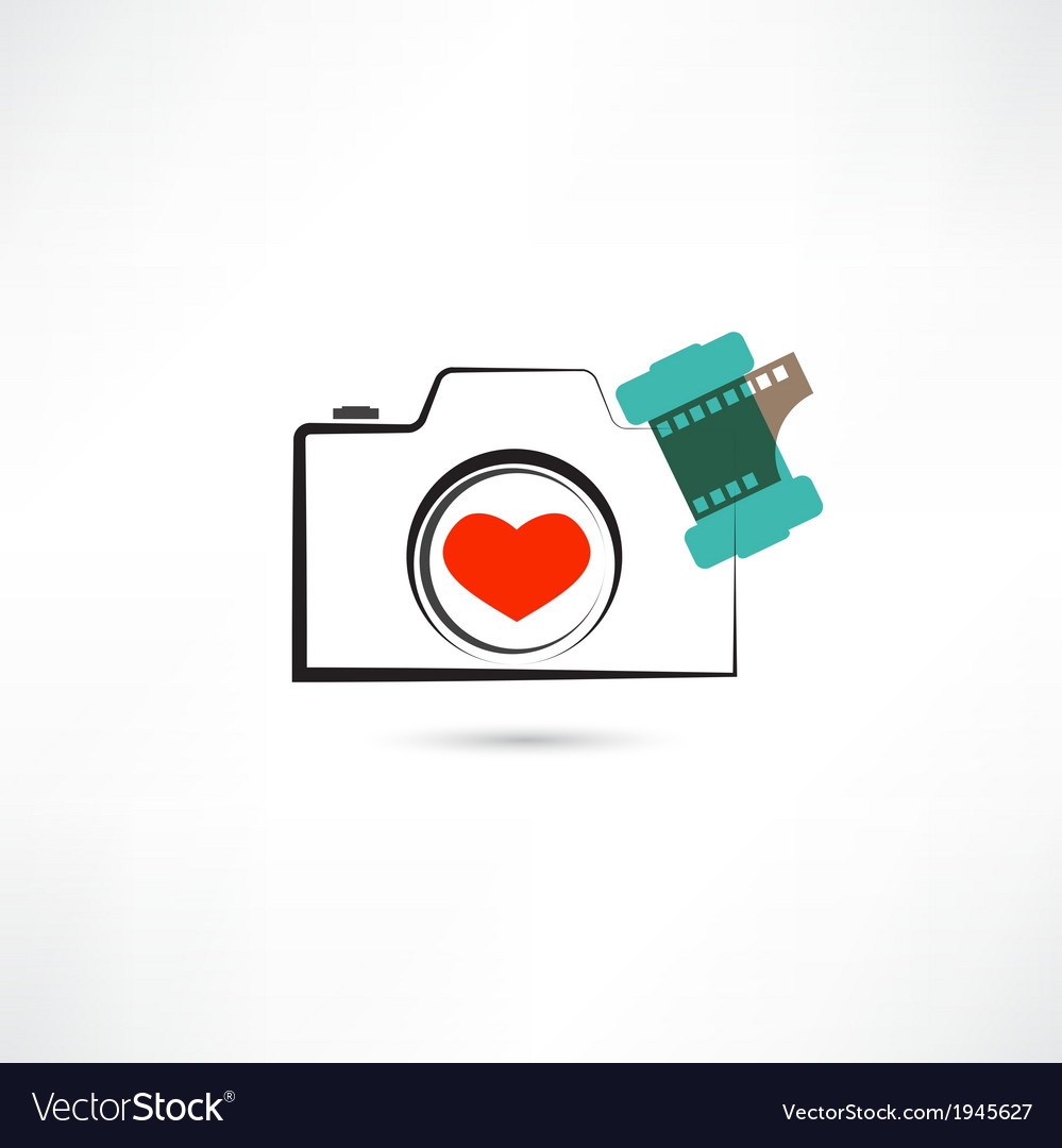 Love camera vector | Price: 1 Credit (USD $1)