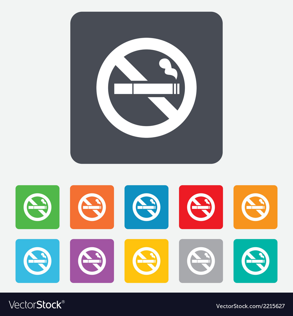 No smoking sign icon cigarette symbol vector | Price: 1 Credit (USD $1)