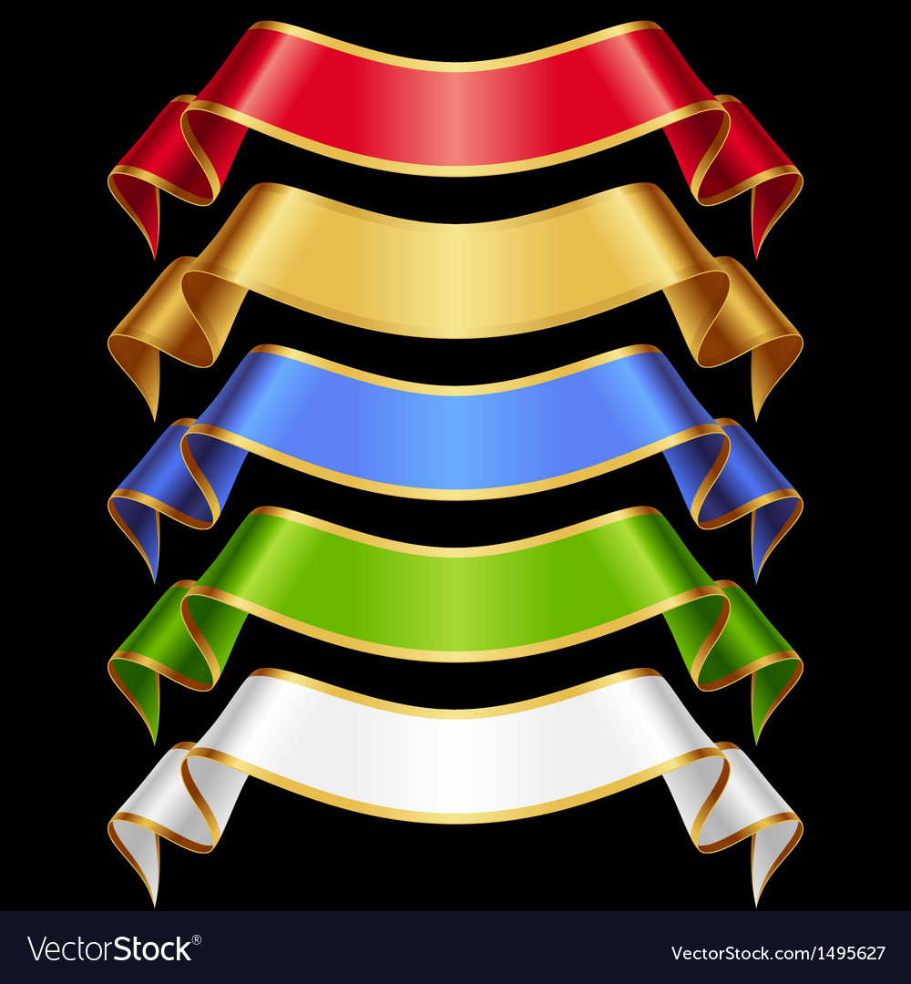 Ribbons set 11 varicolored banners vector | Price: 1 Credit (USD $1)