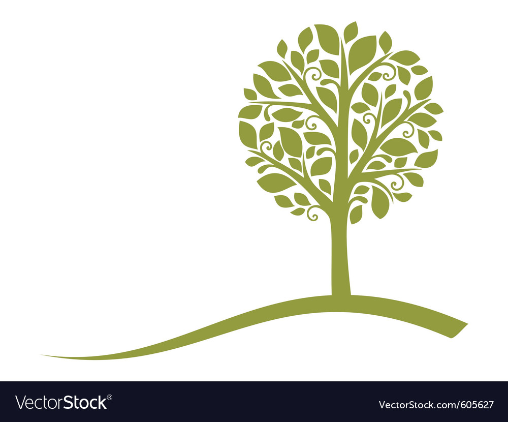 Tree emblem vector | Price: 1 Credit (USD $1)