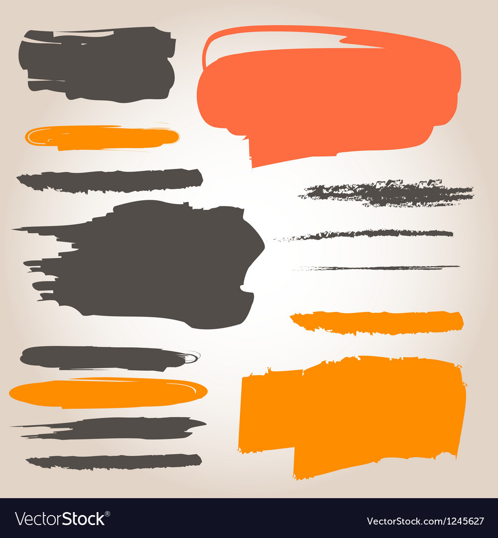 Underlining ink samples vector | Price: 1 Credit (USD $1)