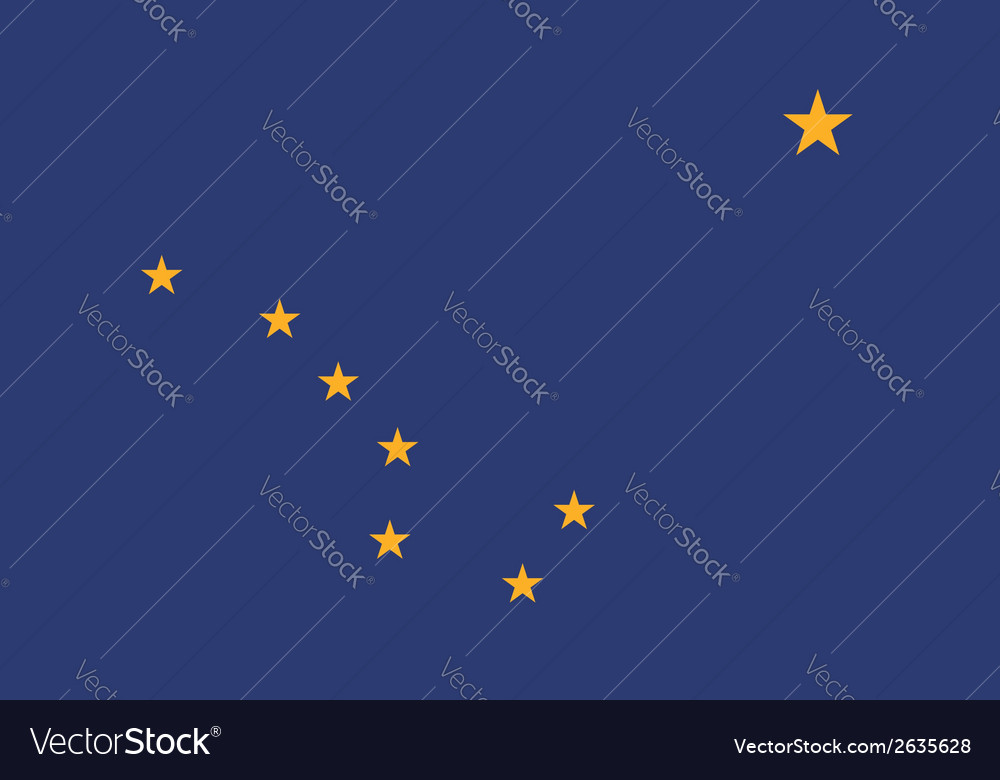 Alaska flag vector | Price: 1 Credit (USD $1)