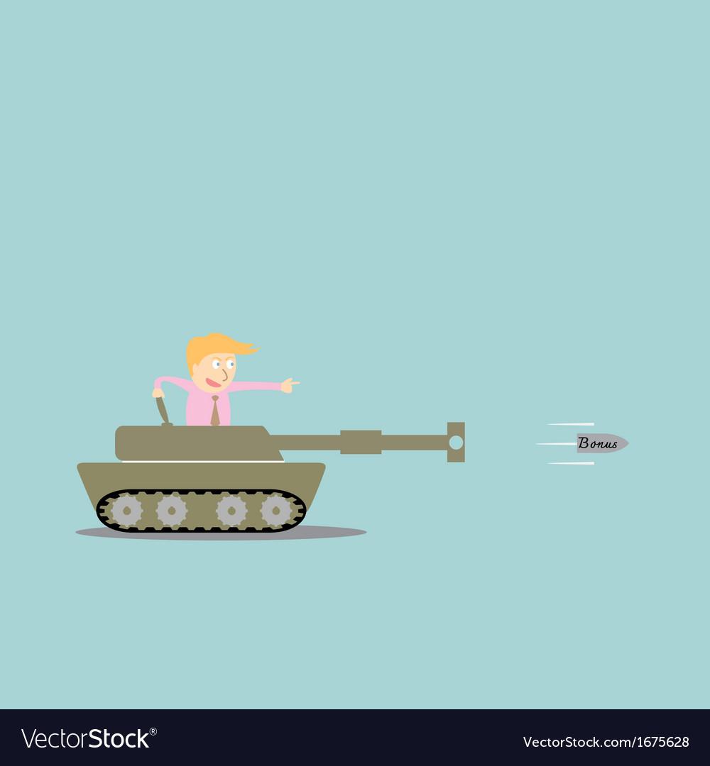 Business artillery fire bullet bonus vector | Price: 1 Credit (USD $1)