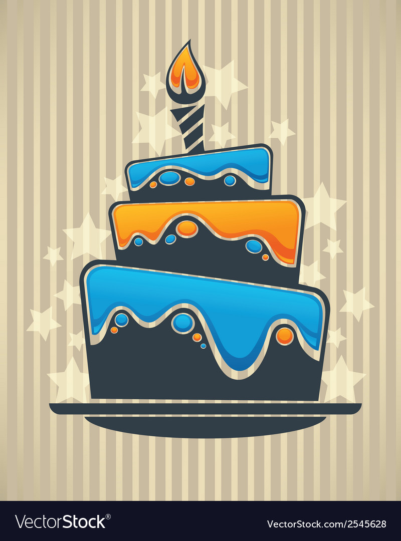 Cake card vector | Price: 1 Credit (USD $1)