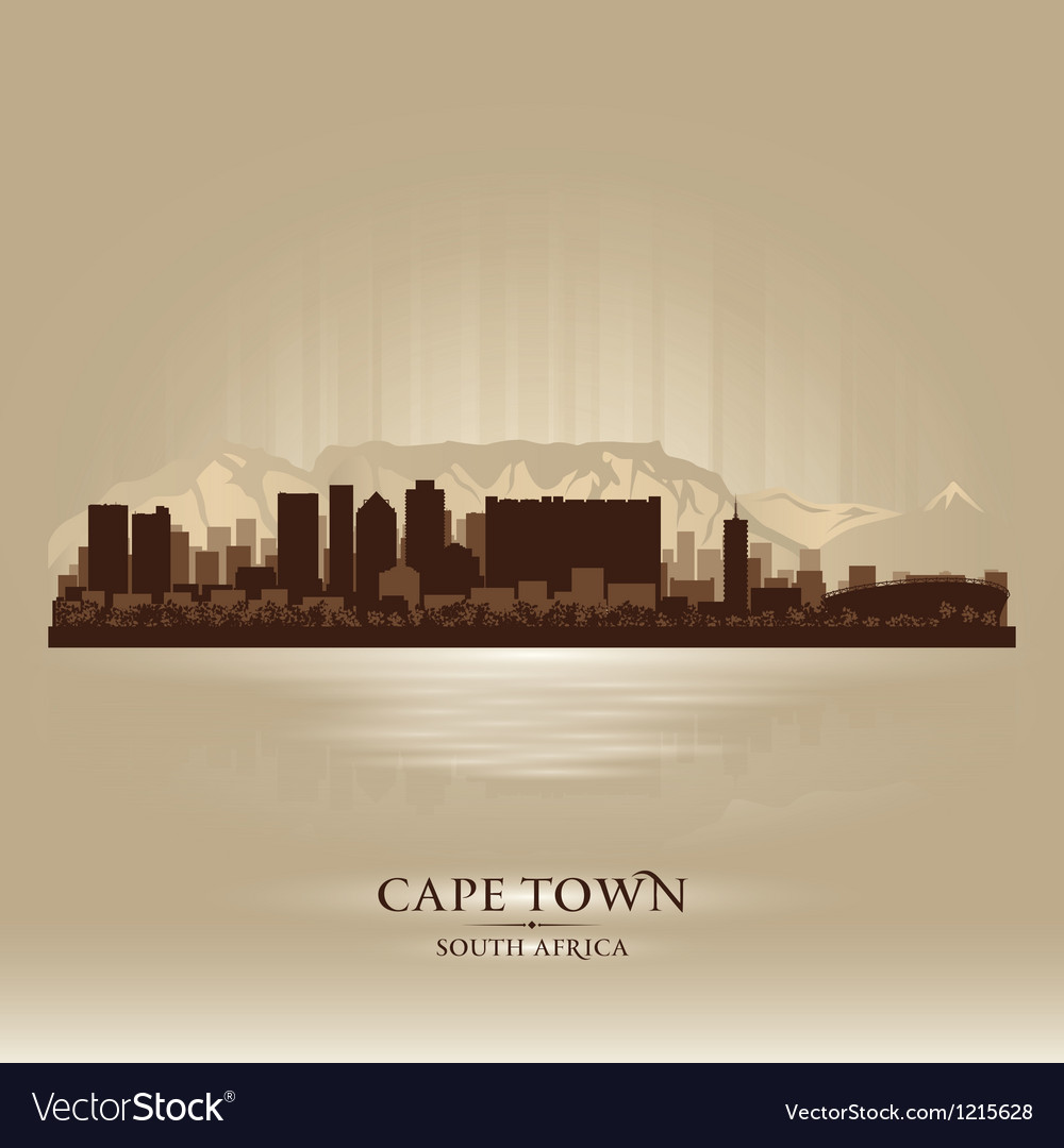 Cape town south africa skyline city silhouette vector | Price: 1 Credit (USD $1)