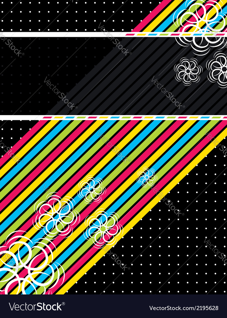 Color diagonals over black background vector | Price: 1 Credit (USD $1)